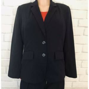 Worthington  Button Front Lined Blazer, Black, 10P